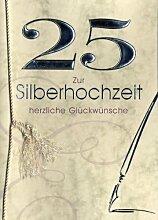 Silberhochzeit Grußkarte Urkunde 25 Zur Silberhochzeit herzliche Glückwünsche A5