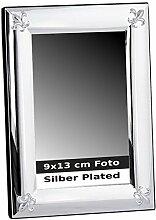 silberkanne Bilderrahmen Lilie 9x13 cm Foto Silber
