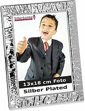 Silberkanne Bilderrahmen Welle schmal 13x18 cm