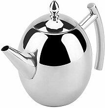 Silberne Teekanne mit abnehmbarem Netzfilterkessel