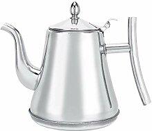 Silberne Teekanne, Wasserkocher, für
