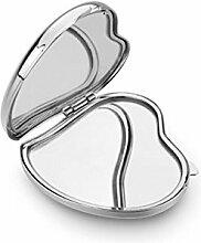 Silberner Herzspiegel - art. EL747 - Lan. 5,6 cm - Bre. 6,5 cm - Hoh. 2 cm - Ten by Varotto & Co.