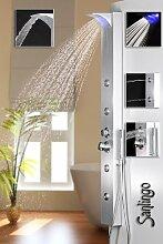 Silbernes LED Alu Duschpaneel Duschsäule mit