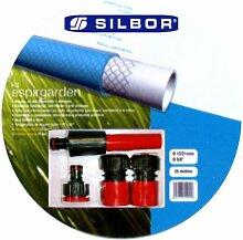 Silbor–Kit Schlauch Bewässerung espirgarden 15x 25mts.