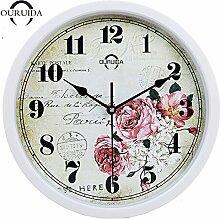Silent Wall Clock modern minimalistisch kreativ Fashion Garten Wohnzimmer Europäische Uhren 30 cm