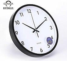 Silent Wall Clock modern minimalistisch kreativ Fashion Garten Wohnzimmer Uhren 34 cm