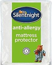 Silentnight Premium Anti Allergie Matratzenschoner, Microfaser, weiß, Einzelbe