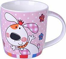 Silicone Gold Hund Mug, Porzellan, Mehrfarbig,