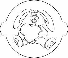 Silikomart Bunny, Schablone zur Dekoration von Kuchen, Weiß