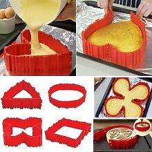 Silikon Backform Set,  Kuchenformen, Cake Mould,