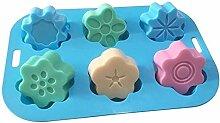 Silikon-Eislutscher Formen 6 Pflaumenblüte