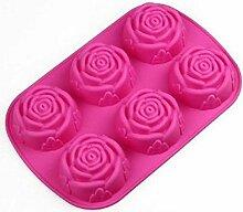 Silikon-Eislutscher Formen 6 Rose Silikon Kuchen