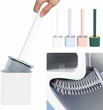 Silikon Flex WC-Bürste mit Halter Langer Griff