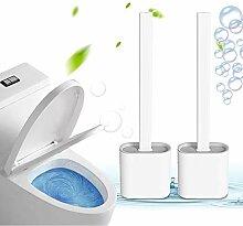 Silikon Flex WC-Bürste mit Halter, Tiefenreiniger