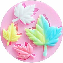 Silikon Formen Maple Leaf Blumen 3D Muffin Form Cookie, dekorative DIY Paste Fondant Form Sugarcraft Backgeschirr für Kuchen dekorieren Hochzeit Geburtstag Supplies
