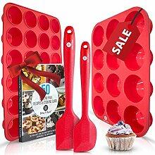 Silikon-Muffin- und Cupcake-Formen – Große