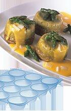 Silikon Muffins Backform blau 33 x 25 cm H 3,5 cm