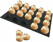 Silikon Muffins und Kuchen Backblech, Runde Mini