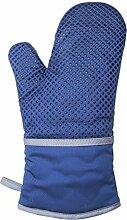 Silikon Wärmedämmung Handschuh Ofen anti-hot und hohen Temperaturen Backen Werkzeuge blau
