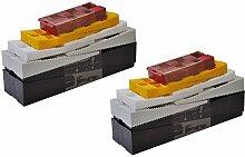 SILISTO 53532bs Kunststoff Verglasungskl/ötze Set 600 St/ück