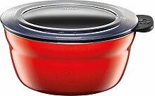 Silit Vorratsdose Fresh Bowls Energy Red rund Silargan Funktionskeramik Multifunktions Schale mit luftdichtem Aroma Deckel zum Vorbereiten, Aufbewahren und Servieren, Ø 12 cm