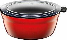 Silit Vorratsdose Fresh Bowls Energy Red rund Silargan Funktionskeramik Multifunktions Schale mit luftdichtem Aroma Deckel zum Vorbereiten, Aufbewahren und Servieren, Ø 16 cm