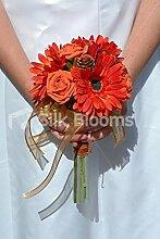 Silk Blooms Ltd Blumenstrauß Gerbera und Rosen,
