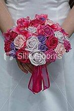 Silk Blooms Ltd Brautstrauß mit Rosen und