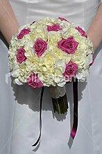 Silk Blooms Ltd Fresh Touch Brautstrauß Rosen und