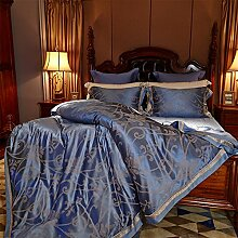 Silk luxury decken set european bettwäsche 8 Stücke-A King