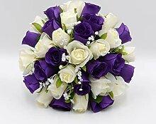 Silk Petals Polly Brautstrauß, handgemacht,