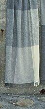 Silkeborg Creme-hellgrau-graue Karo Wolldecke 100% naturbelassene Schurwolle aus Skandinavien (130 x 200 cm)