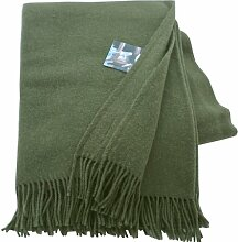 Silkeborg Gedeckt olivgrüne Wolldecke aus 100%