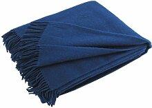 Silkeborg Kobaltblaue Wolldecke aus 100%