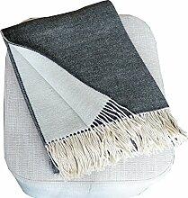Silkeborg Leichte creme-schwarze Wolldecke