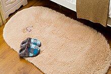 Silky Schlafzimmer Bettvorleger oval Teppich ( größe : 100*200cm )