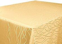 Silver Tischdecke Gelb 130x260 cm Eckig in glanzvoller Streifenoptik, Eckig - Größe, Farbe & Form Wählbar (Rund Eckig Oval)