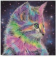 Silverbuy 5D-Katzen-Diamant-Gemälde, niedliches