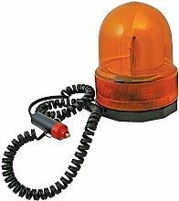 Silverline 633728 Gelbe Drehspiegel-Rundumleuchte 12 V