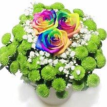 Silvester Geschenkidee: Blumenstrauß mit bunten