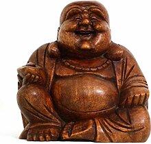 Simandra Happy Buddha Holz Figur Skulptur Abstrakt