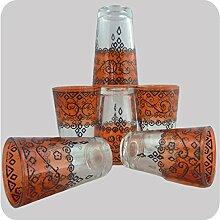 Simandra Orientalische Teegläser Marokkanische