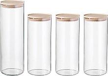 SIMAX Vorratsglas, (4 tlg.) H: 29 cm-23,3 cm
