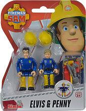 Simba Feuerwehrmann Sam 2er Figuren-Set Elvis und