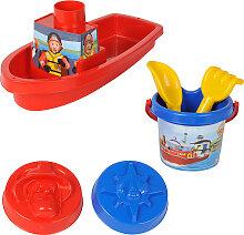 Simba Feuerwehrmann Sam Boot mit Sandspielzeug