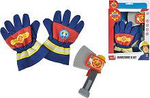Simba Feuerwehrmann Sam Handschuhe und Axt
