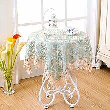 Simonclothline Tischtuch mit weißem lace Dining