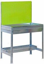 Simonrack–Bank BT Garden Box 1200x 600mm grün/verzink