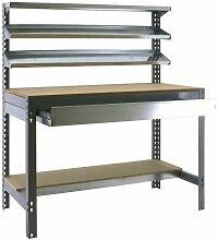 simonrack 338100945127514Kit BT/1Box 1200-Set Werkbank Dunkelgrau/Holz