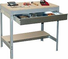 simonrack 338100945127592Kit BT/3Box 1200-Set Werkbank Dunkelgrau/Holz